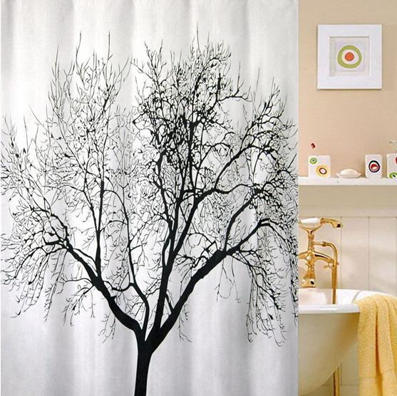 Livraison gratuite marque nouveau paysage grand arbre tissu rideau de douche - Rideau de douche arbre ...