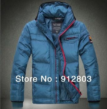 [ANYTIME]Original Brand - Men's Thicken Down Jacket LOGO Collar Sleeve Male Winter Warm Coat M XXL - Free Shipping