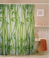 Free Shipping Brand New East Green Bamboo Grove Fabric Shower Curtain M3005 Wholesale and Retail