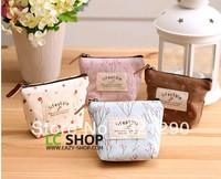 freeshipping women's fashion Rural broken flower coin purse canvas purse bag ,4 colors