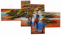 New Arrival Multi Panel Nude Girl Women Sexy 100% Hand Oil Painting On Canvas