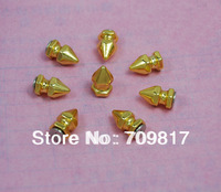8*14mm Screwback Spikes Golden Punk Rock leathercraft DIY Rivet/wholesale/Free Shipping 500pcs/lot GZ026-14G+B4G