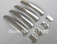 Skoda Octavia stainless steel door handle cover door handle sticker 8pcs car trim
