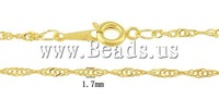 Wholesale! Free Shipping  100strands/Lot  gold color, with lobster clasp Brass Necklace Chain DIY Jewelry Wholesale!