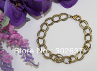 FREE SHIPPING 12PCS Antiqued bronze double-link chain bracelet #22561