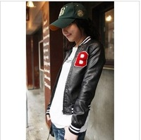 The Korean version of women lady handsome slim short jacket free shipping