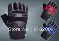 Q635 cowhide fitness training non - slip movement gloves half finger sports motorcycle gloves Free shipping