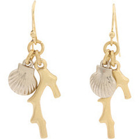 New Arrival! Wholesale vintage punk cool alloy shell drop earrings, vintage, retro, free shipping