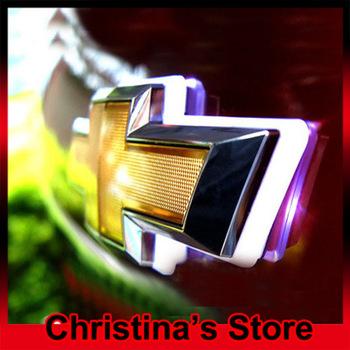 Free Shipping Led car logo light for Chevrolet Cruze car badge light auto led light auto emblem led lamp 3 colors optional