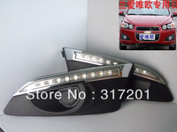 HOT!Free ship!2010~2012 TaiWan Chevrolet Aveo LED daytime running light,6000~7000K,super good quality,8W 12V