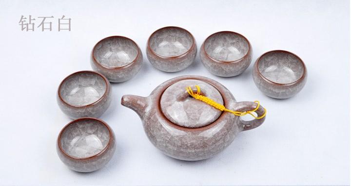 Taiwan ice tea set teapot porcelain tea set of ceramic purple genuine pure white diamond free