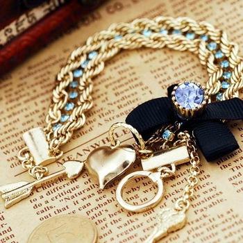 PDRB-SJ05,BJ Fashion Vintage Peach Hearts  Charm Bracelet Vintage Bracelet ,Wholesale ,