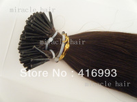 "24"" 24inch 2#  Darkest brown Stick I tip PreBonded Human Hair Extensions Indian Remy 1g/s 100g AAA HY022"