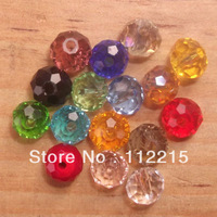 wholsale Free Shipping hot 200 PC  6 mm  Mix Color  Glass Crystal Disco Bicone  Beads  fit  Gift V4002