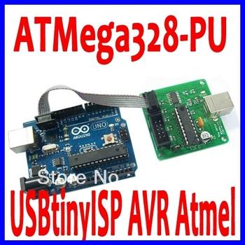 Duemilanove 2009 ATMega328-PU + USBtinyISP AVR Atmel Programmer With USB Cable