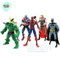 6pcs Marvel The Avengers Batman Hulk Thor Spiderman Captain America Figure Set