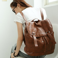 2014 Sale Real Softback Solid Pu No Daily Backpack Zipper Free Shipping! Pg Beauty Networks Women Quality Backpack School Bag
