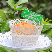 "Free shipping for wedding supplies ""little vine"" wedding cake decorative cupcake wrappers"
