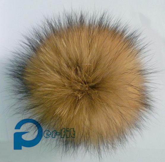 Raccoon fur ball D13cm fur ball charm fur pom free ship 40pcs per lot with wholesale price(Hong Kong)