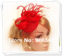 Free shipping 6color avaliable sinamay fascinator hats ,good bridal hats/cocktail hat,Very nice,MSF227(China (Mainland))