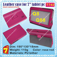 "[T742] Q88,Q8 (CPU/Allwinner A13) Hard case for 7"" tablet PC; dual camera hole"