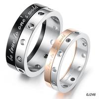 Korean jewelry wholesale new fashion jewelry titanium steel couple rings true sense of rotation lovers ring 246