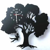 Drow home decoration clock black lovers swing wrought iron wall clock fashion clock