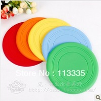 (free shiping CPAM) 20 Pcs/lot 17CM pet toys silicone soft Frisbee bites not to hurt the tooth-resistant outdoor  dog toy
