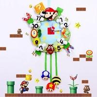 Handmade DIY Dream time wall clock,Polypropylene nonwoven fabric Handmade DIY clocks,Via free shipping