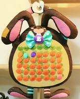 Handmade DIY Harvest full rabbit wall calendar,Polypropylene nonwoven fabric DIY calendar,Via free shipping