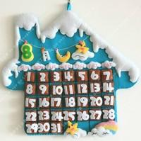 Handmade DIY Snow color romantic wall calendar,Polypropylene nonwoven fabric DIY calendar,Via free shipping