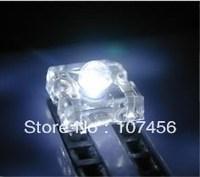 Wholesale Free Shipping (100pcs) 5mm Piranha Super Flux White LED+Fast Shipping 5mm light-emitting diode
