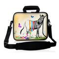 "Free Shipping Zebra 13."" 13.3"" Laptop Bag Case Cover With Outside Handle + Shoulder Strap(China (Mainland))"