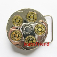 free shipping!Buckle Russian Revolver rotating buckle belt buckle,5 BARREL 44 MAG bullet belt buckle,mix order support,3pcs/lot