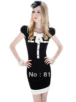 free shipping 2013 womens new fashion white black organza patchwork high waist elastic short skirt ladies pencil skirts 496