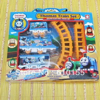 New year gift Area classic thomas train track electric car toy, very nice boy gift, fast free shipping single track with package