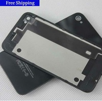 top quality original Black white Glass Battery Cover Back replacement Housing for iPhone 4 4G  ,DHL Free shipping 50pcs