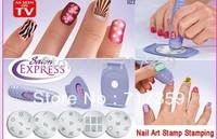 3sets/lot Hotsale Professional Nail Art Stamp Plates Polish DIY Stamping Design Kit AY600126