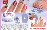 3sets/lot ,Hotsale Professional Nail Art Stamp Plates Polish DIY Stamping Design Kit  600126