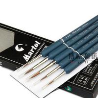 5 pcs weasel's hair paint brush dotting pen gouache watercolor acrylic brush art supplies free shipping