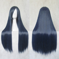Cosplay wig navy blue 80cm chaoshun long straight hair general cosplay wig