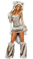 Free Shipping Women's Funny Costume, Sexy Wolf Costume