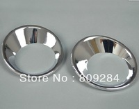 Free shipping! 2 pcs ABS chrome rear fog light cover,lamp cover,fog light bezel for Qashqai