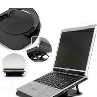 Rotary laptop mount cooling tower cooling pad mount black