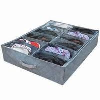 Bamboo 12 lid shoebox thickening bamboo bed transparent storage shoe