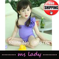 Super Cute Baby Summer Swimwear One-Piece Swimsuit Sleeveless Girls Beach Cloth free shipping HK Airmail