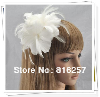 Free shipping  many color high quality feather flowers,nice fascinator hair accessories/ party hats/wedding hats FS62