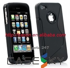 S Line TPU Gel Case For iPhone 4G 4S 10pcs, Mix Color(China (Mainland))