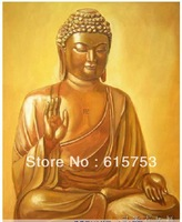 Free delivery hand-painted oil painting figure of Buddha of India 20x24inch
