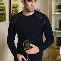 Royal CARDANRO plus velvet male thermal underwear navy blue 8855